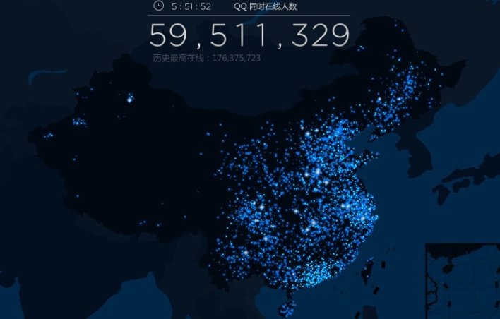 Tencent usage at 5:49 local time on Jan. 10, 2012.