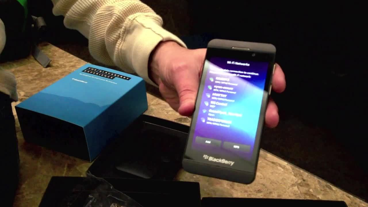 This is Z10, the first BlackBerry 10 handset Thumbnail