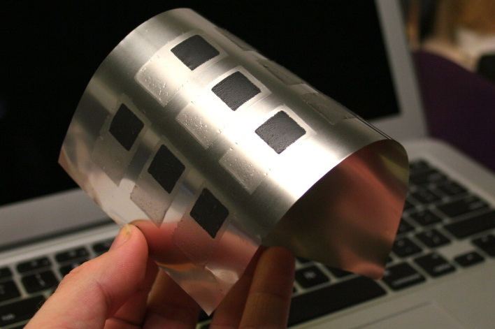 Startup Imprint Energy makes a flexible battery that could be used in wearable devices.