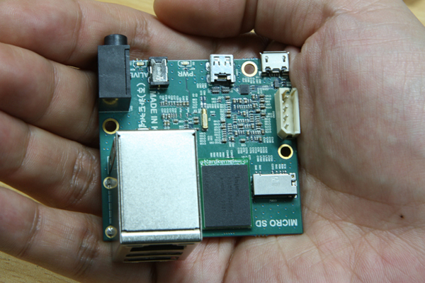 ODroid X2 in hand