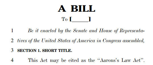 Aaron's Law Act