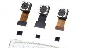 Three camera sensors