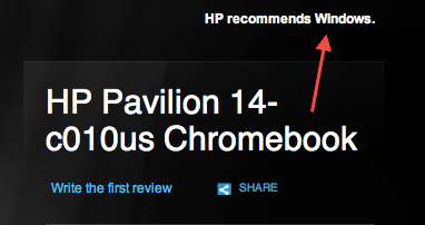 HP recommends Windows