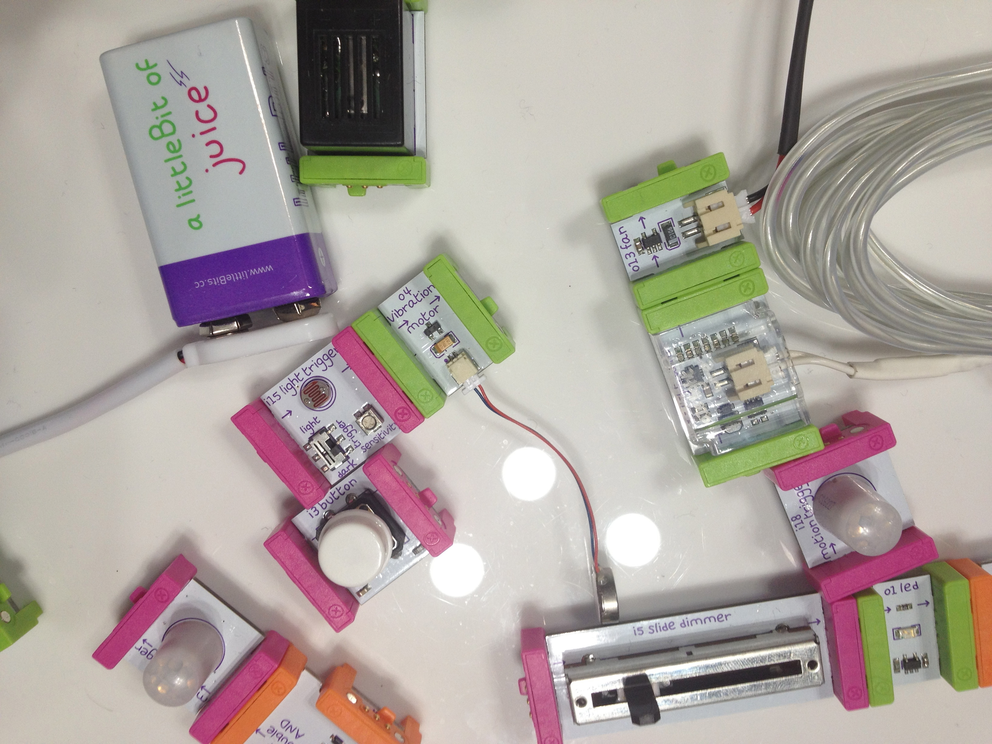 LittleBits modules. Photo by Rani Molla.