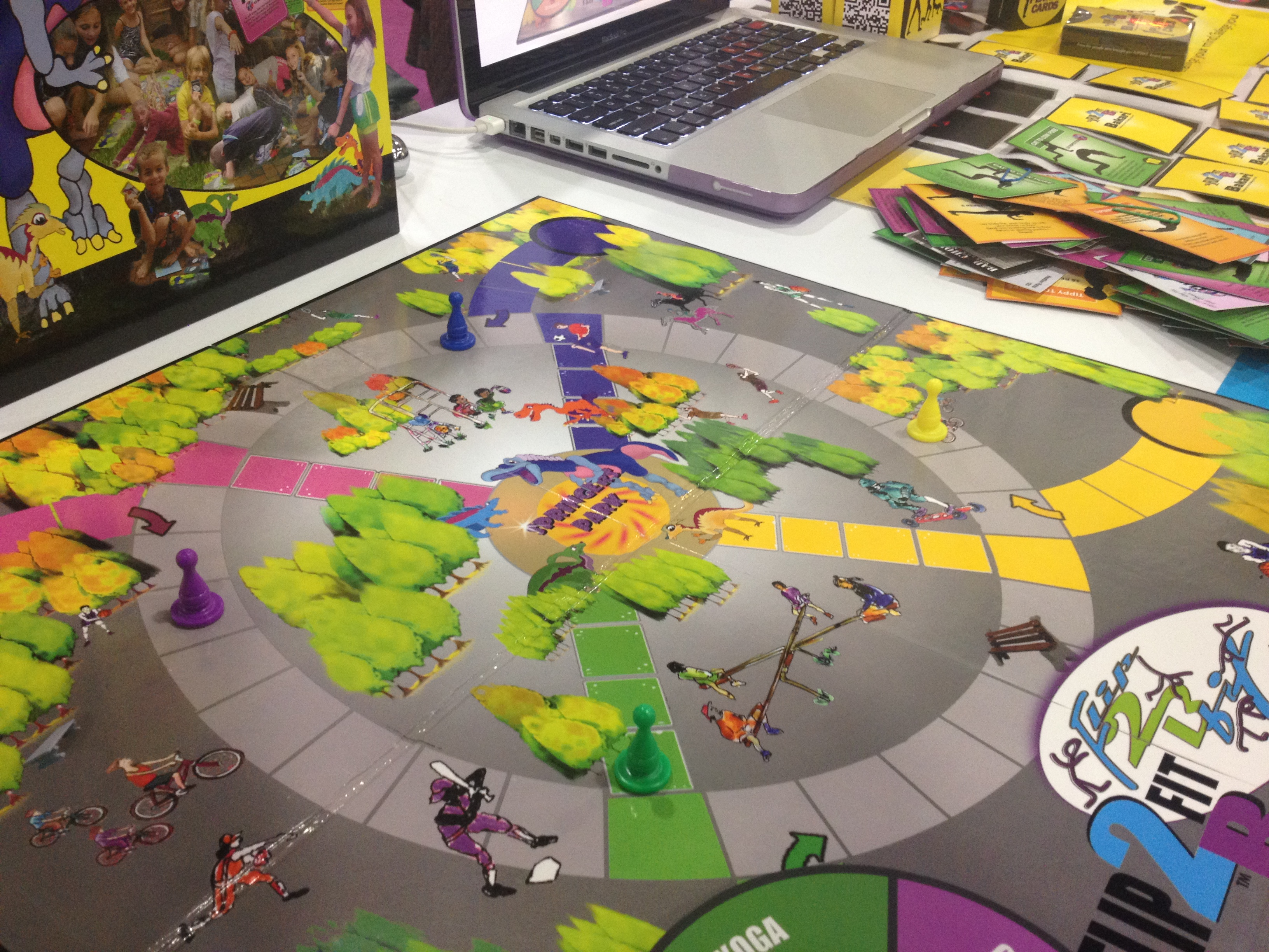 Flip2BFit board game.