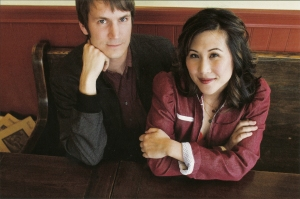 Jennifer Wong and Casey Sackett Kidfolio Baby Bump Pink Pad co-founders couple