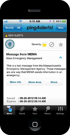Ping4 MEMA phone emergency alerts