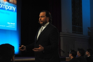 salesforce marc benioff close