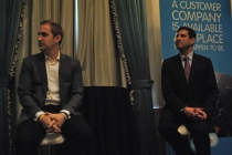 Michael Slaby, former CIO of Obama for America (left)  and Vivek Kundra, EVP of emerging markets for Salesforce.com.