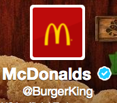 Screen shot of Burger King hack