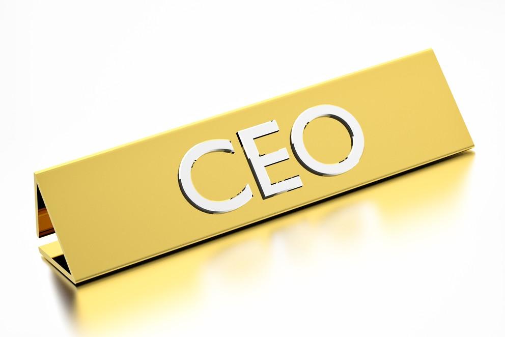 Generic CEO plaque
