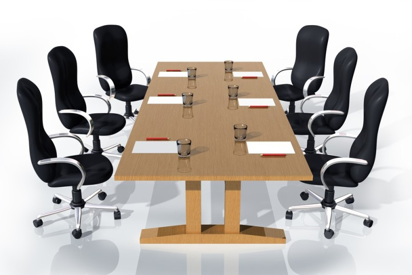 Negotiating table conference room