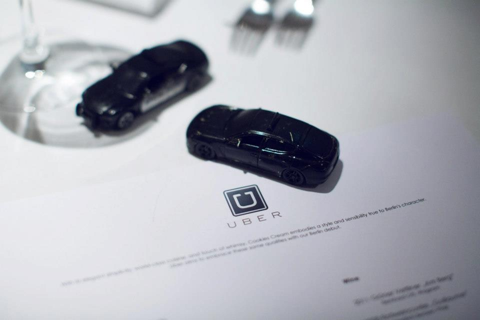 Uber: A venture-funded startup and mobile app that connects passengers with drivers of vehicles for hire.