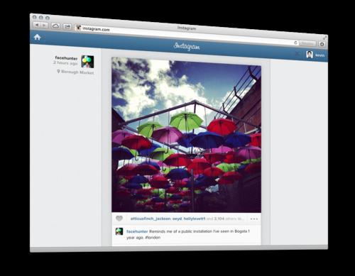 Instagram desktop feed mobile