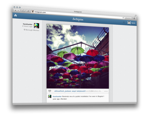 Instagram desktop feed mobile