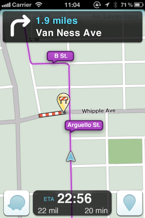 Waze road closure