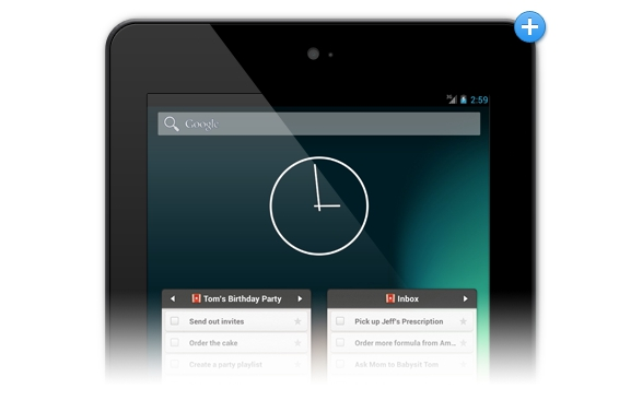 Wunderlist 2 Android tablet