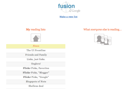 1. fusion the earliest - home page