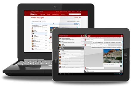 Verizon's tablet and PC SMS client (source: Verizon)