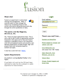2. fusion prototype - home page