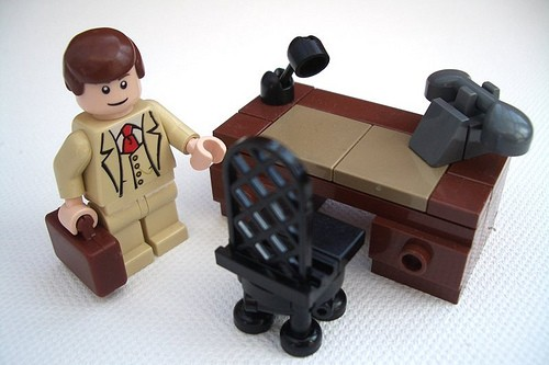 Lego office enterprise (businessman, desk phone)