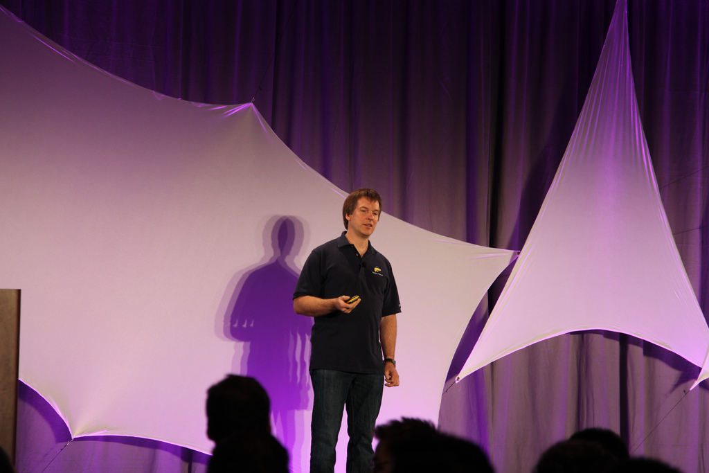 Baldeschwieler at Hadoop Summit 2010. Source: Yodel Anectdotal