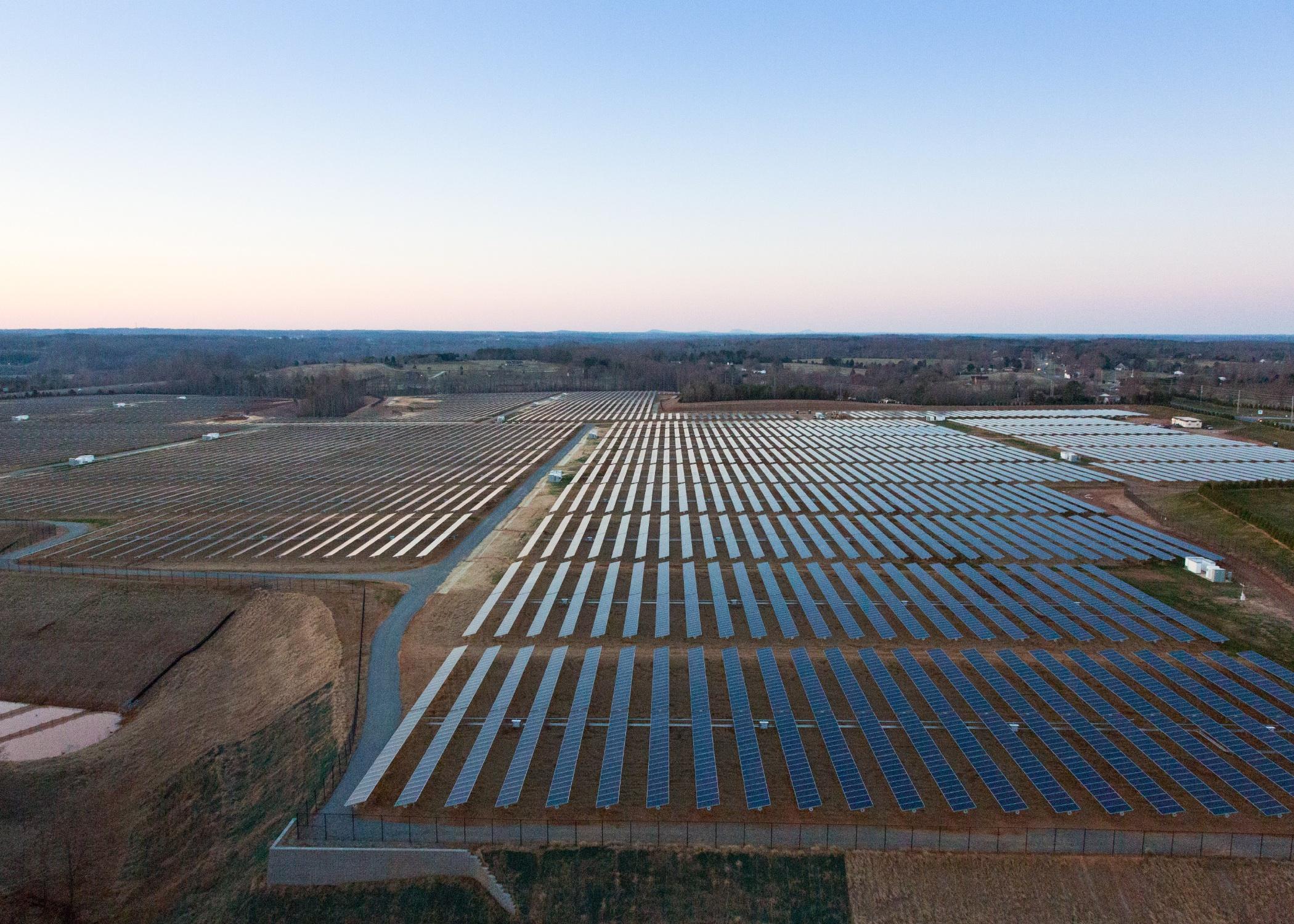 Apple's solar farm in North Carolina.