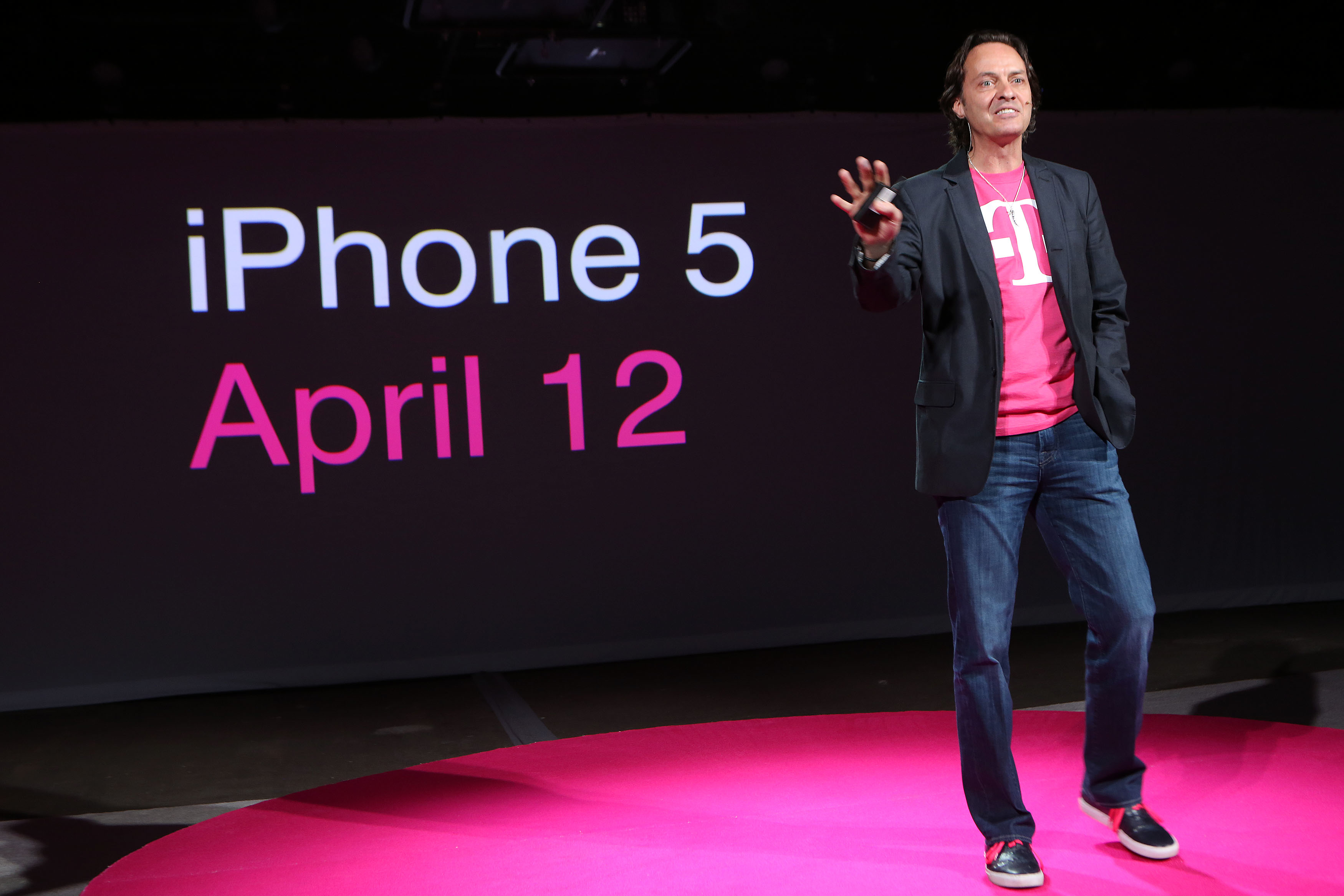 T-Mobile CEO John Legere kicking off the iPhone and T-Mobile's Un-carrier strategy last year