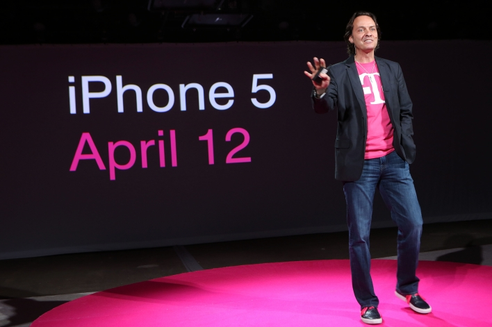 T-Mobile CEO John Legere kicking off the iPhone and T-Mobile's Un-carrier plan last March