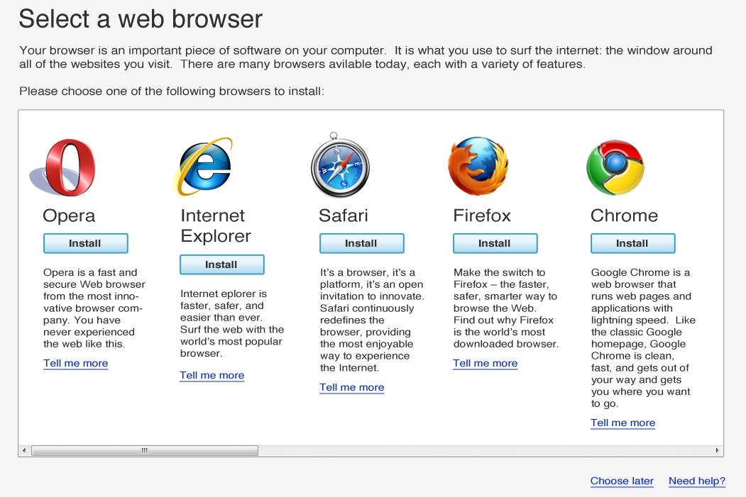 Browser ballot