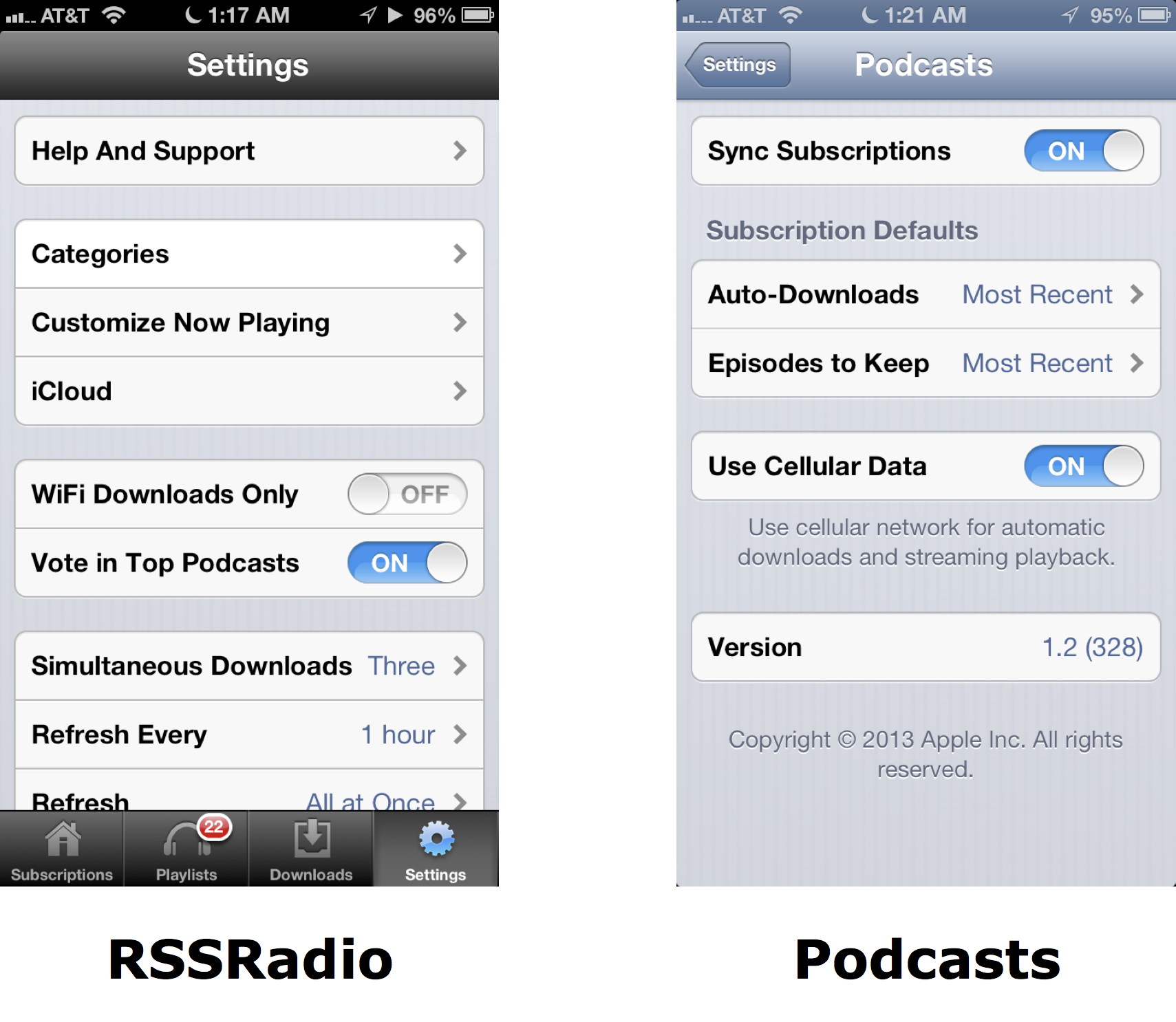 Download Settings