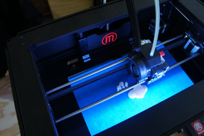 The Replicator 2, 3D printer, by MakerBot