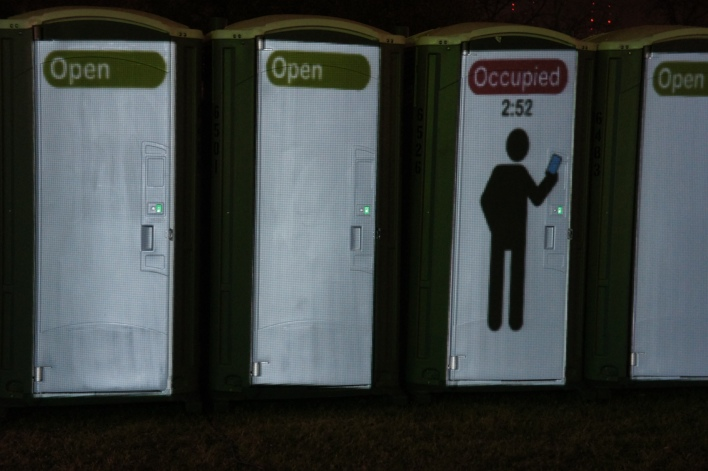 The Internet of weird thing at SXSW: smart porta potties, light books and a robot zen gardener
