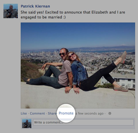Facebook promoted post payment newsfeed