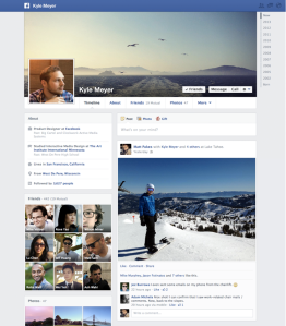 Facebook timeline layout