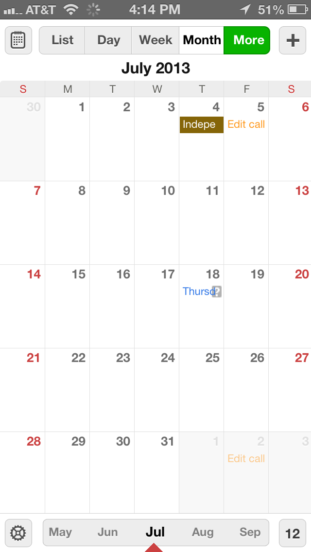Readdle Calendars app