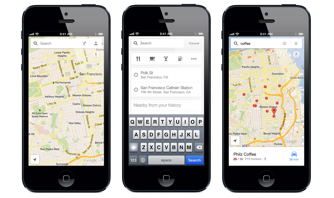 New Google Maps for iOS