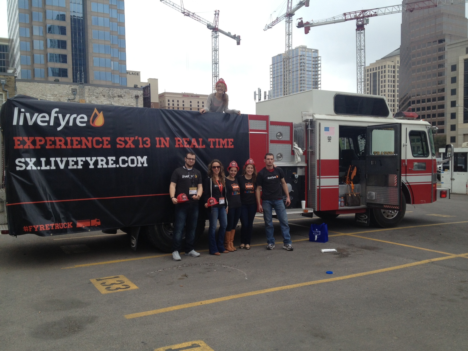 Livefyre rented out a firetruck, really amping up the crazy car genre.