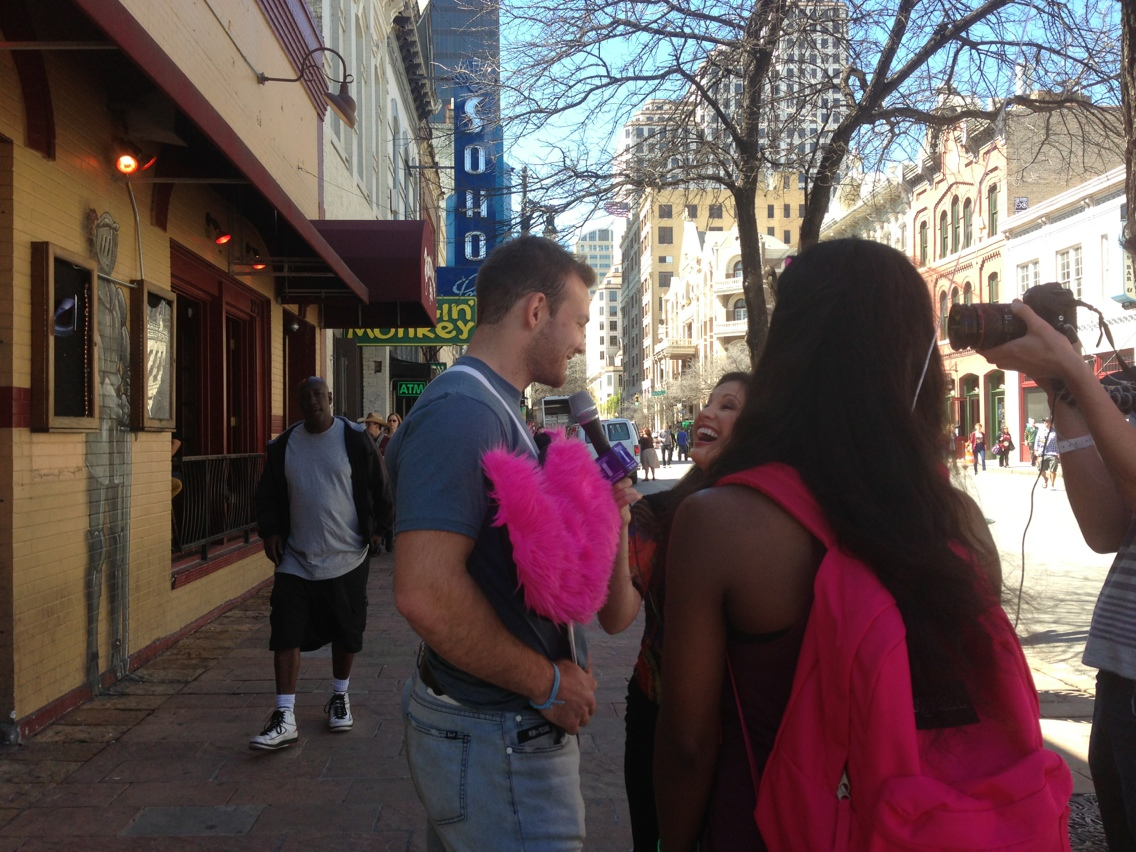 Austin streets during SXSW 2013.