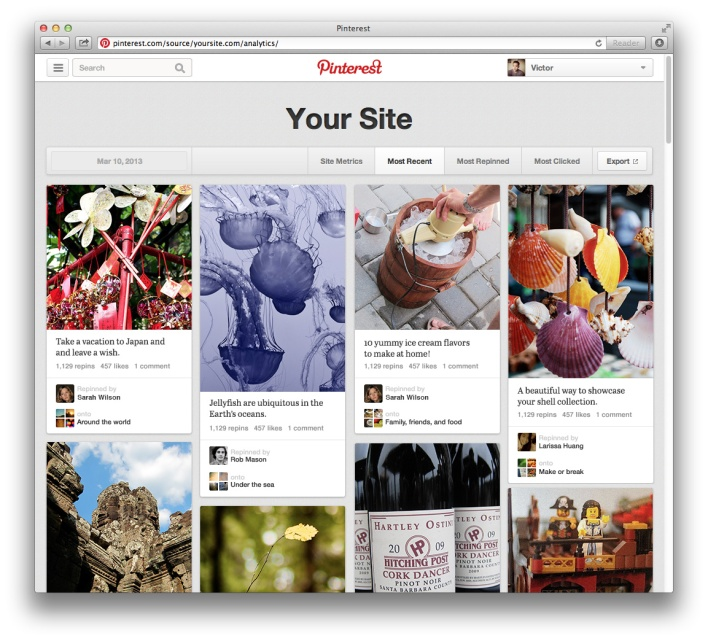 Pinterest launches web analytics service to track engagement with photos