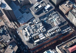 Rooftop view of Markley's Boston facility.