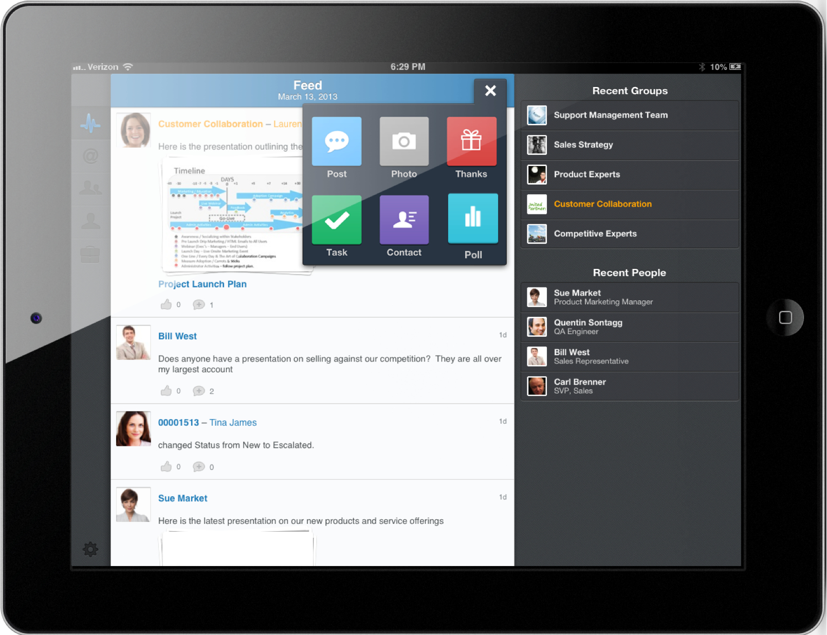 Salesforce.com has new mobile capabilities for its Chatter enterprise social network.