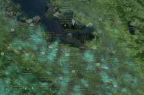 Screen shot of a satellite image using Google Earth Engine