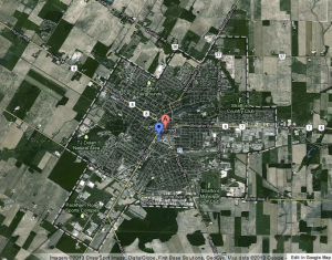 Stratford, Ontario, in Google Maps