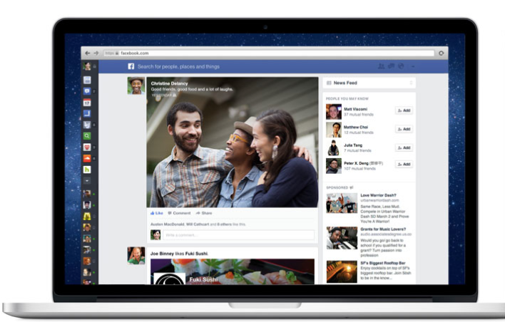 Screenshot Facebook newsfeed