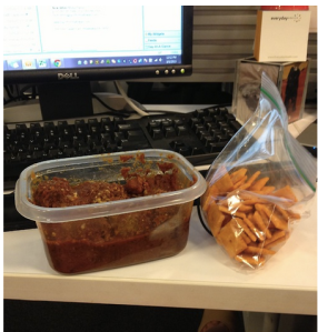 Lunch and Desk