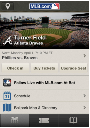 At the Ballpark app