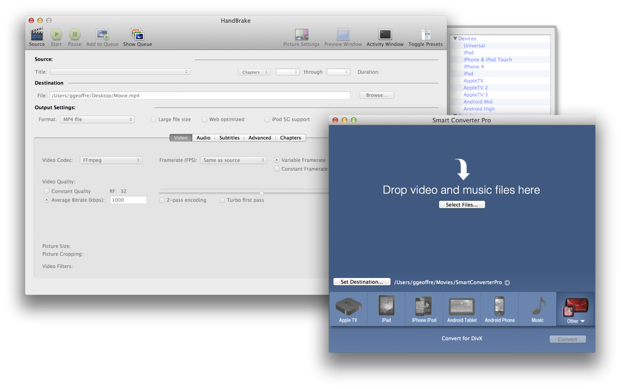 Video Conversion Utilities