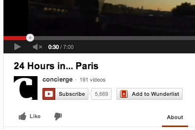 Wunderlist YouTube button