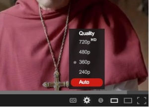 Don't touch that dial: YouTube's adaptive bitrate streaming makes manual adjustments unnecessary.